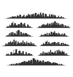 urban cityscape silhouettes vector image vector image