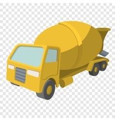 Concrete mixer cartoon yellow symbol vector image