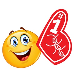 Foam finger emoticon vector