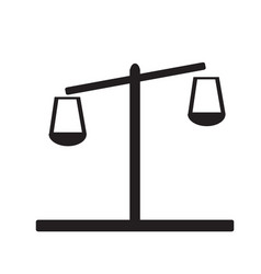 libra icon on white background flat style design vector image vector image