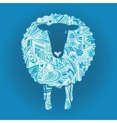 Ornamental sheep vector image vector image