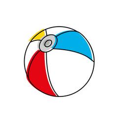 beach ball design vector image
