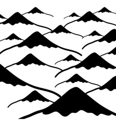 Simple mountains black and white background eps10 vector