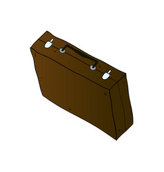 suitcase isolated minimal single flat icon vector image