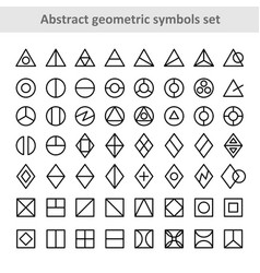 abstract geometric symbols set triangle round vector image