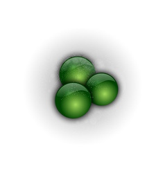 abstract three green points vector image