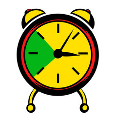 alarm clock icon icon cartoon vector image