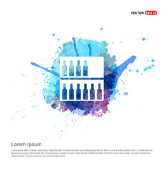 Alcohol bar icon - watercolor background vector