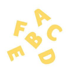 Alphabet pasta flat isolated vector