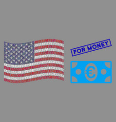 american flag stylized composition euro vector image