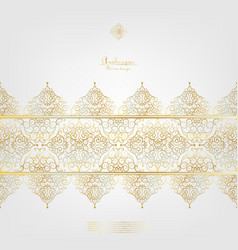 Arabesque elegant gold background border vector