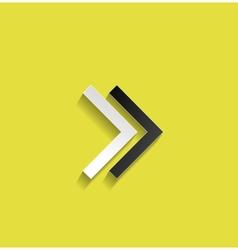 arrow flat design vector image