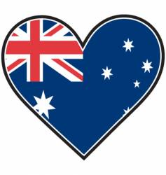 australia heart flag vector image