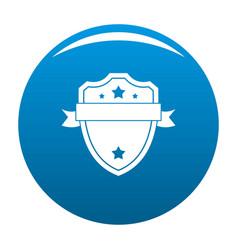badge warrior icon blue vector image