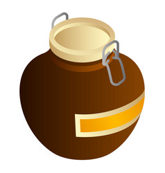 Baker special honey jar icon isometric style vector