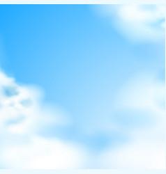 Blue sky white clouds natural backdrop vector