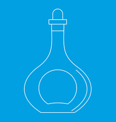 carafe icon outline style vector image