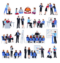Coaching mentoring discipleship flat icons set vector