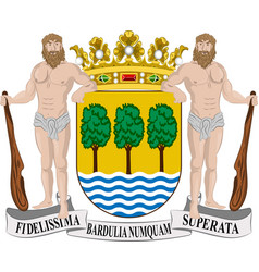 Coat of arms of gipuzkoa in basque country in vector