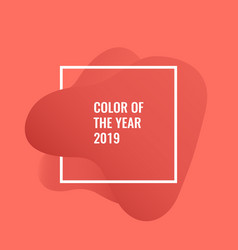 color year 2019 vector image