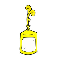 Comic cartoon squirting mustard bottle vector