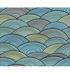 Curled abstract waves vector