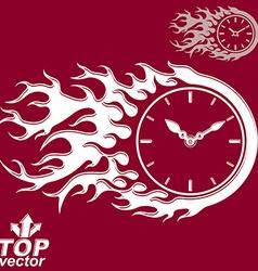 Elegant timer with burning flame invert version vector
