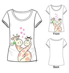 Fashion cute t-shirt vector