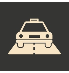 Flat in black and white mobile application taxi vector