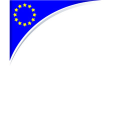 Frame with the flag of the european union vector