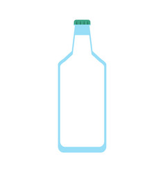 glass bottle icon image vector image