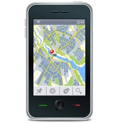 gps navigator interface vector image