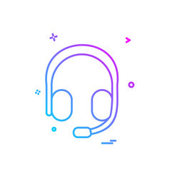 head phone icon design vector image