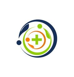 health together logo design template vector image