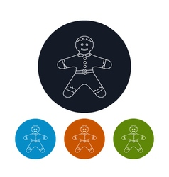 Icon of a Gingerbread Man vector image
