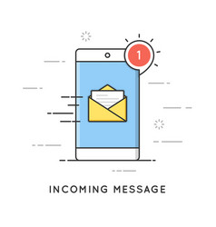 incoming email notification new message flat vector image