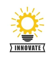 Innovate design idea icon flat vector