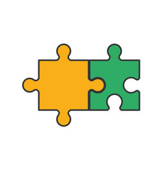 Jigsaw puzzles icon vector