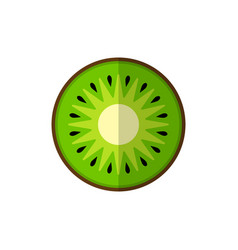 Kiwi on white vector