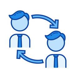 knowledge managment line icon vector image