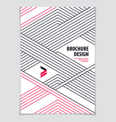 minimalistic brochure design web commerce or vector image