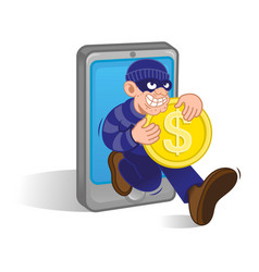 mobile money thief vector image