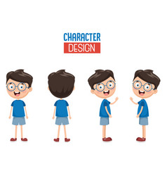 of cartoon character design vector image