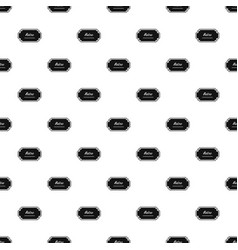old label pattern seamless vector image