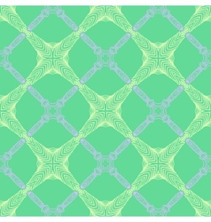 pattern in emerald green thin elegant lines vector image