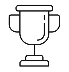 Quest gold cup icon outline style vector