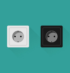 realistic euro socket icon in flat style vector image
