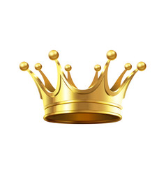 realistic gold crown for royal family members vector image