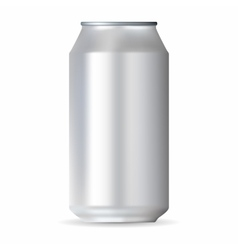 Realistic white aluminum can vector