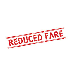 Reduced fare stamp seal with unclean style and vector